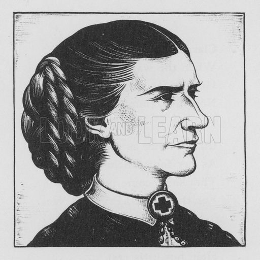 Clara Barton. Illustration for A Book of Americans by Rosemary and Stephen Vincent Benet (Farrar and Rinehart, 1933).