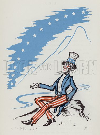 Uncle Sam. Illustration for A Book of Americans by Rosemary and Stephen Vincent Benet (Farrar and Rinehart, 1933).