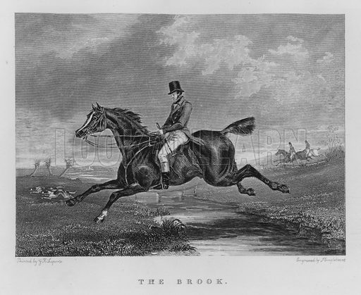 The Brook. Illustration for unidentified book of sports, c 1840.