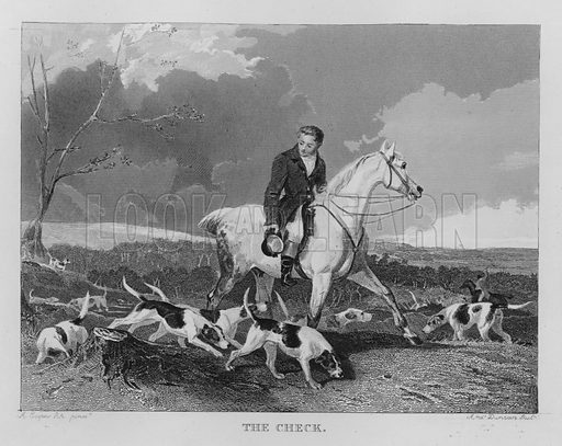 The Check. Illustration for unidentified book of sports, c 1840.