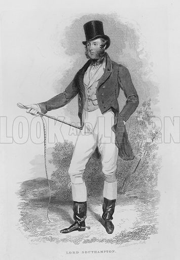 Lord Southampton. Illustration for unidentified book of sports, c 1840.