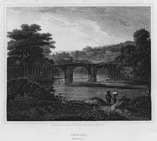 Canoby, Dumfrieshire. Illustration for The Border Antiquities of England and Scotland by Walter Scott (Longman et al, 1814).