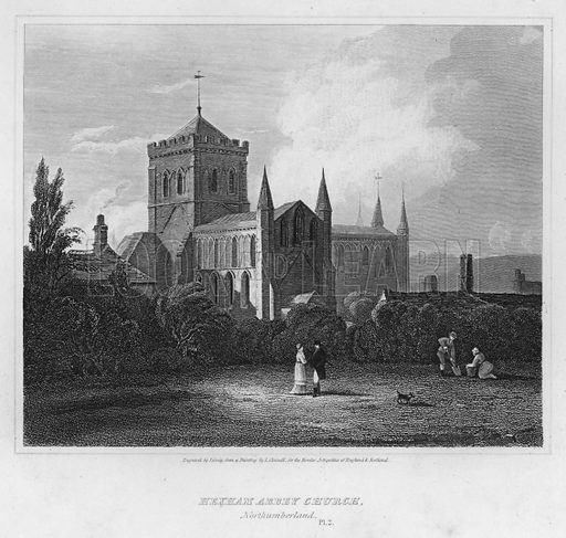 Hexham Abbey Church, Northumberland. Illustration for The Border Antiquities of England and Scotland by Walter Scott (Longman et al, 1814).