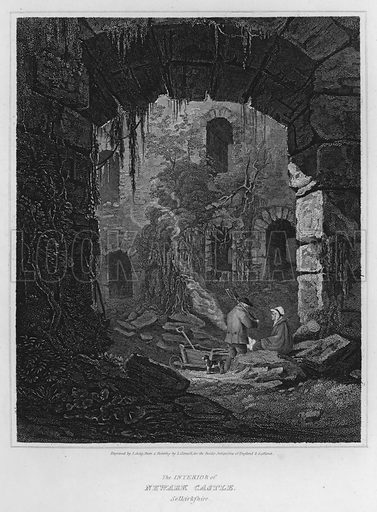 The Interior of Newark Castle, Selkirkshire. Illustration for The Border Antiquities of England and Scotland by Walter Scott (Longman et al, 1814).