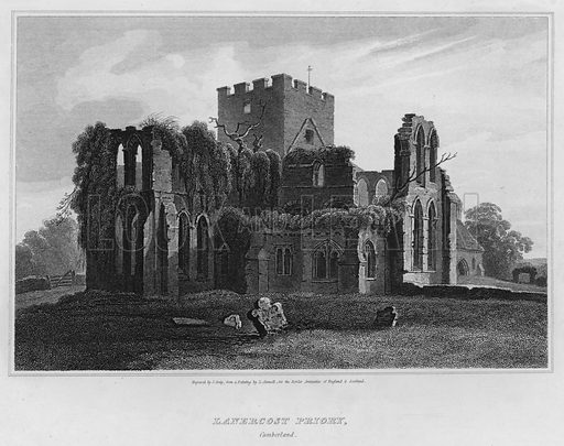 Lanercost Priory, Cumberland. Illustration for The Border Antiquities of England and Scotland by Walter Scott (Longman et al, 1814).