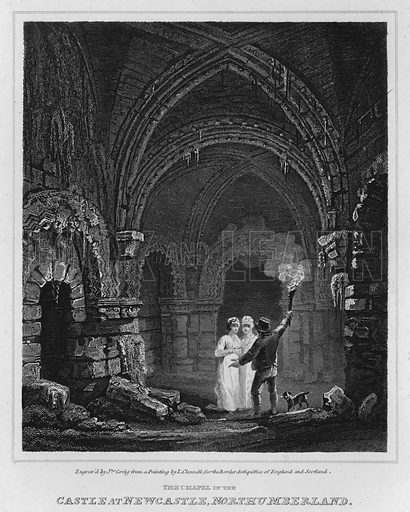 The Chapel in the Castle at Newcastle, Northumberland. Illustration for The Border Antiquities of England and Scotland by Walter Scott (Longman et al, 1814).