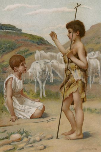 St John The Baptist. Illustration for Boys of Bible Story by C J Ridgeway (Griffith Farran, c 1890).