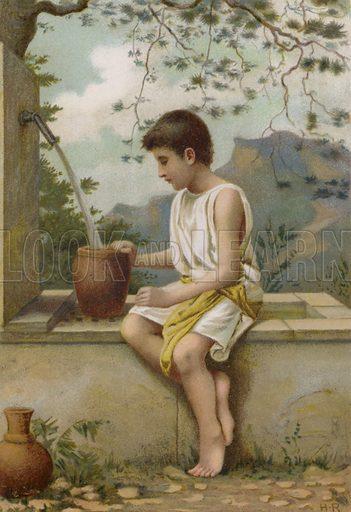 Benjamin. Illustration for Boys of Bible Story by C J Ridgeway (Griffith Farran, c 1890).