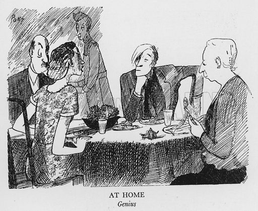 At Home, Genius. Illustration for The British at Home by Pont [ie Graham Laidler] (Collins, 1939).