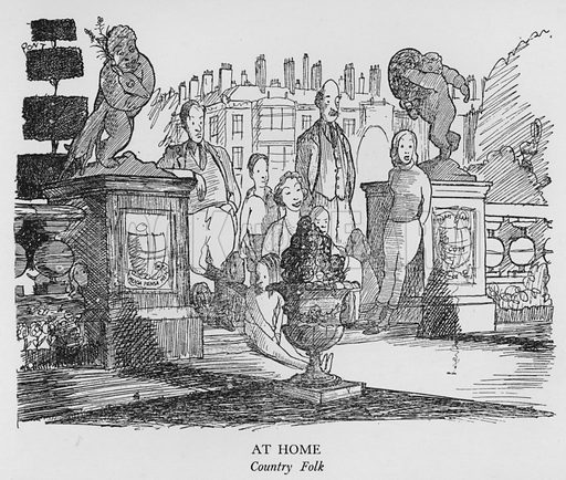 At Home, Country Folk. Illustration for The British at Home by Pont [ie Graham Laidler] (Collins, 1939).