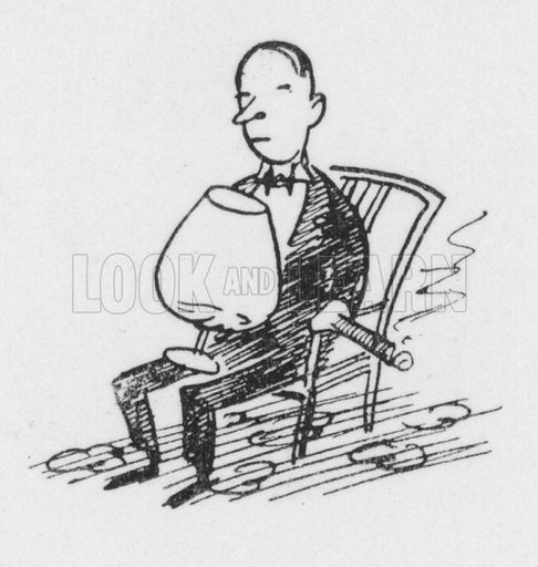 Brandy. Illustration for The British Character studied and revealed by Pont (ie Graham Laidler) (Collins, 1938).