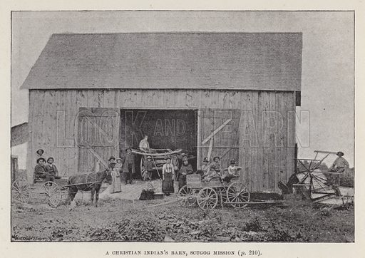 A Christian Indian's barn, Scugog mission. Illustration for By Canoe and Dog-Train among the Cree and Salteaux Indians by Egerton Ryerson Young (Charles H Kelly, 1890).