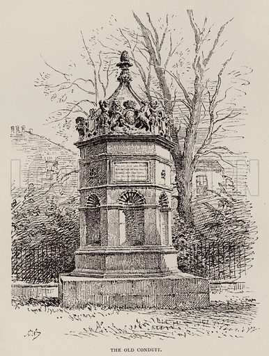 The Old Conduit. Illustration for Cambridge by J W Clark (Seeley Jackson and Halliday, 1881).
