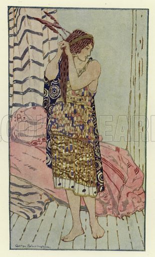 She was very beautiful and gentle. Illustration for Canadian Wonder Tales by Cyrus Macmillan (John Lane, The Bodley Head, 1918).