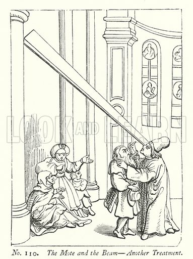 The Mote and the Beam, Another Treatment. Illustration for A History of Caricature and Grotesque in Literature and Art by Thomas Wright with illustrations from various sources drawn and engraved by F W Fairholt (Virtue, 1865).