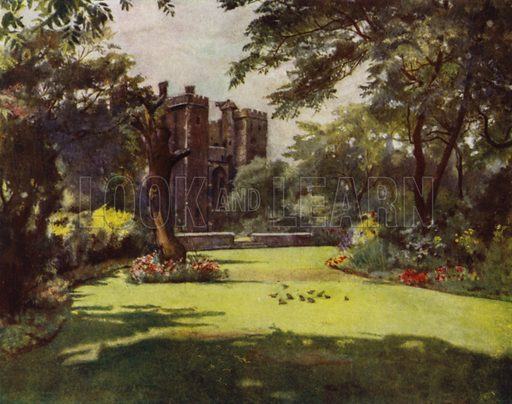 Lambeth, The Palace from the Gardens. Illustration for Gardens of Celebrities and Celebrated Gardens in and around London by Jessie Macgregor (Hutchinson, c 1918).