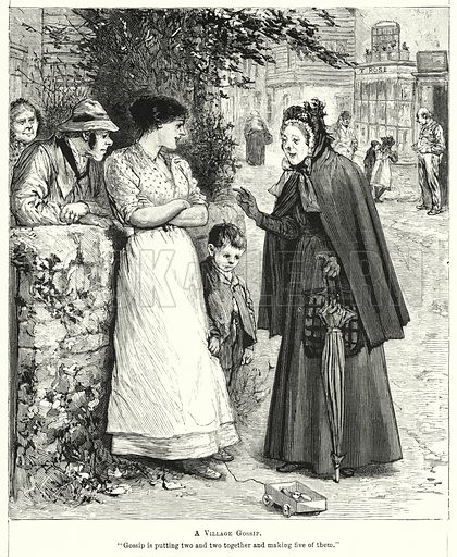 A Village Gossip. Illustration for Chatterbox (1901). Publication made up mainly of earlier illustrations.