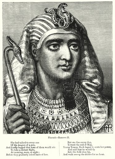 Pharaoh, Rameses II. Illustration for Chatterbox (1901). Publication made up mainly of earlier illustrations.