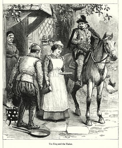The King and the Tinker. Illustration for Chatterbox (1901). Publication made up mainly of earlier illustrations.