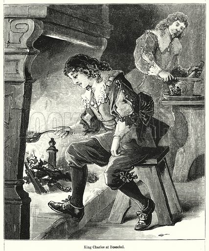 King Charles at Boscobel. Illustration for Chatterbox (1901). Publication made up mainly of earlier illustrations.