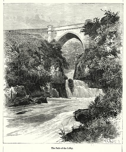 The Falls of the Liffey. Illustration for Chatterbox (1901). Publication made up mainly of earlier illustrations.