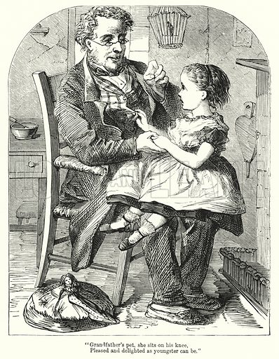 The Two Children. Illustration for Chatterbox (1901). Publication made up mainly of earlier illustrations.