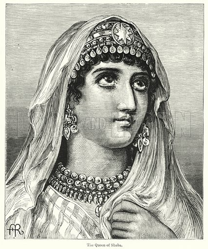 The Queen of Sheba. Illustration for Chatterbox (1901). Publication made up mainly of earlier illustrations.