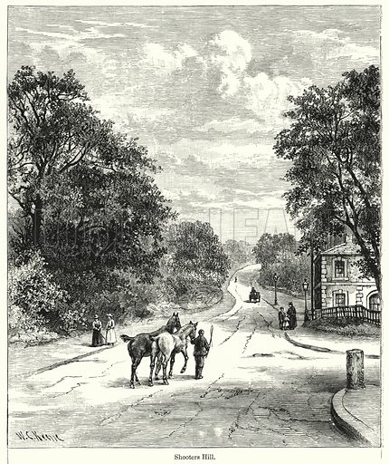 Shooters Hill. Illustration for Chatterbox (1901). Publication made up mainly of earlier illustrations.