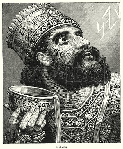 Belshazzar. Illustration for Chatterbox (1901). Publication made up mainly of earlier illustrations.