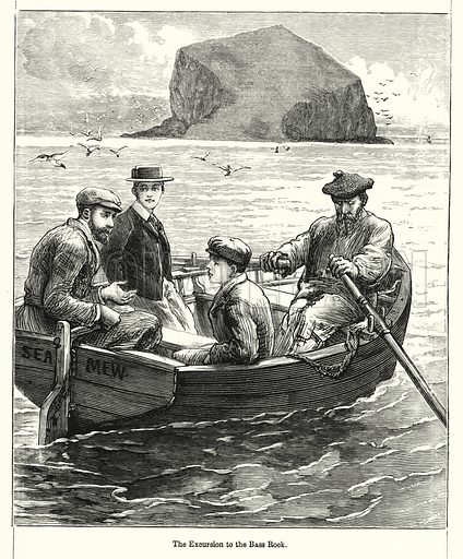 The Excursion to the Bass Rock. Illustration for Chatterbox (1901). Publication made up mainly of earlier illustrations.