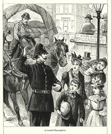 A Crowded Thoroughfare. Illustration for Chatterbox (1901). Publication made up mainly of earlier illustrations.