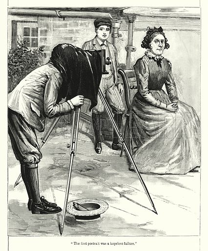 """""""The first portrait was a hopeless failure."""" Illustration for Chatterbox (1901). Publication made up mainly of earlier illustrations."""