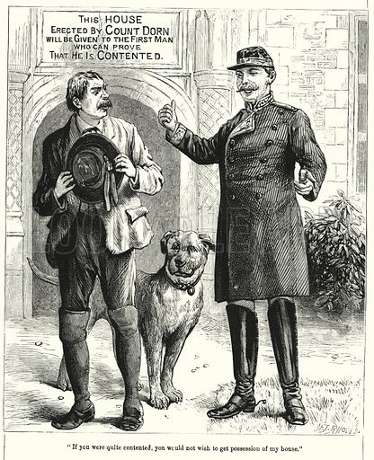 """""""If you were quite contented, you would not wish to get possession of my house."""" Illustration for Chatterbox (1901). Publication made up mainly of earlier illustrations."""
