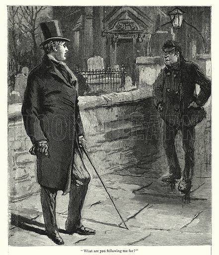 """""""What are you following me for?"""" Illustration for Chatterbox (1901). Publication made up mainly of earlier illustrations."""