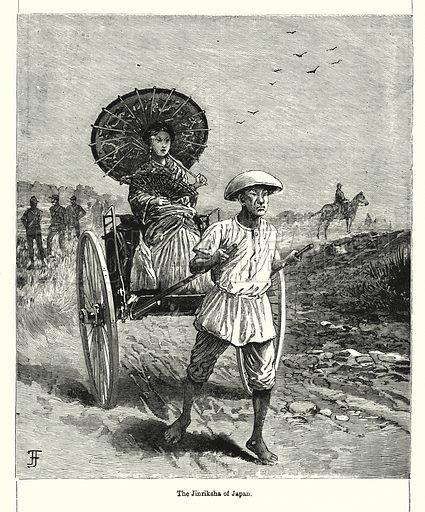 The Jinriksha of Japan. Illustration for Chatterbox (1901). Publication made up mainly of earlier illustrations.