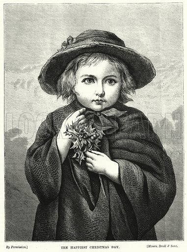 The Happiest Christmas Day. Illustration for The Children's Friend (1872).