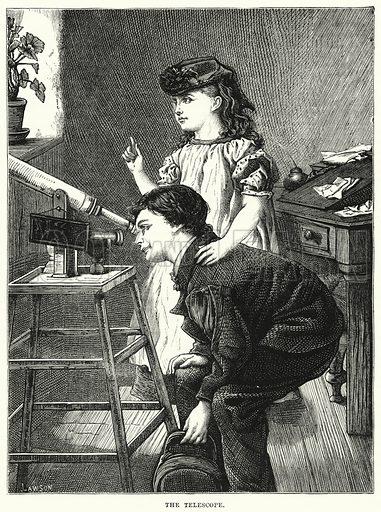The Telescope. Illustration for The Children's Friend (1872).