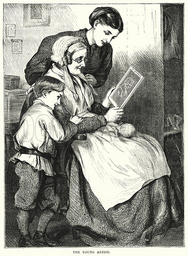 The Young Artist. Illustration for The Children's Friend (1872).