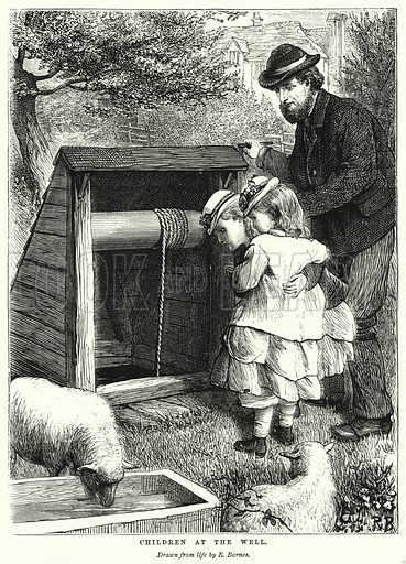 Children at the Well. Illustration for The Children's Friend (1872).