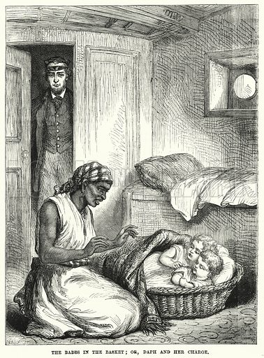The Babes in the Basket; or, Daph and her Charge. Illustration for The Children's Friend (1872).