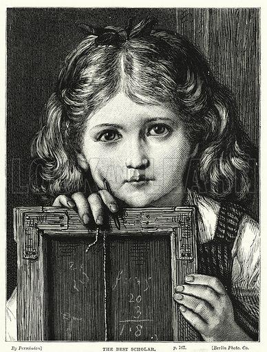 The Best Scholar. Illustration for The Children's Friend (1881).