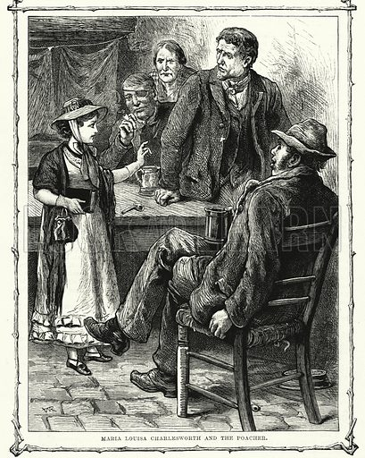 Maria Louisa Charlesworth and the Poacher. Illustration for The Children's Friend (1881).