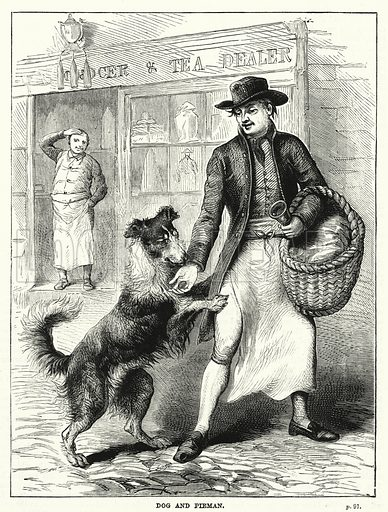 Dog and Pieman. Illustration for The Children's Friend (1881).