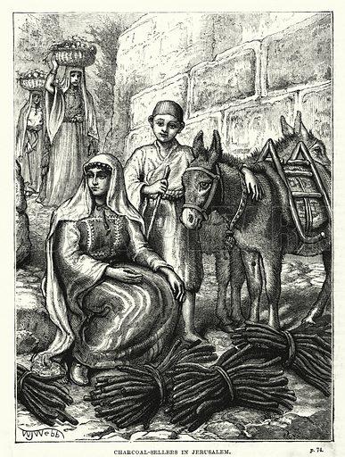 Charcoal-Sellers in Jerusalem. Illustration for The Children's Friend (1881).