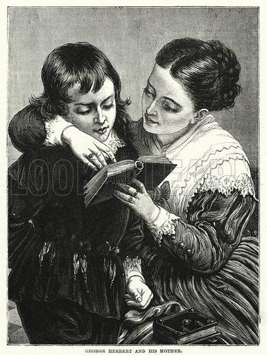 George Herbert and his Mother. Illustration for The Children's Friend (1881).