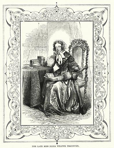 The Late Miss Eliza Weaver Bradburn. Illustration for The Children's Friend (1881).