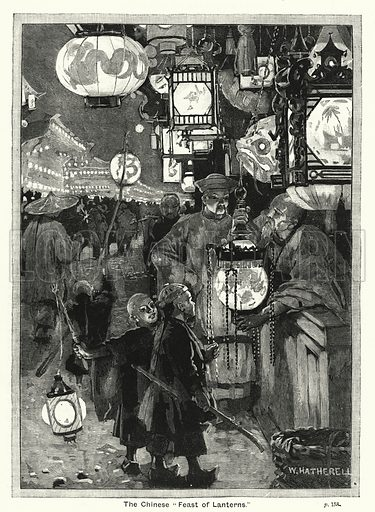 """The Chinese """"Feast of Lanterns."""" Illustration for The Children's Friend (1888)."""