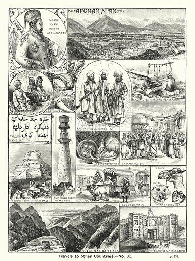 Afghanistan. Illustration for The Children's Friend (1888).