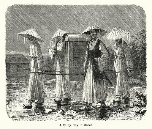 A Rainy Day in Corea. Illustration for The Children's Friend (1888).