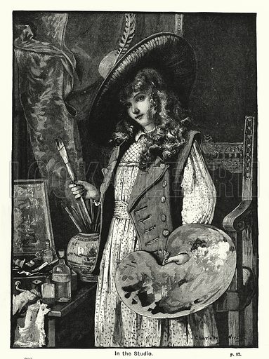 In the Studio. Illustration for The Children's Friend (1888).